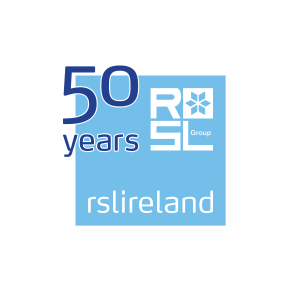 RSL Ireland 50 years logo